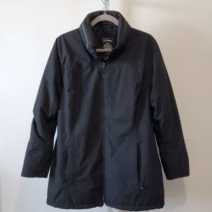 L.L.BEAN rain jacket primaloft-line black Sz Lp
